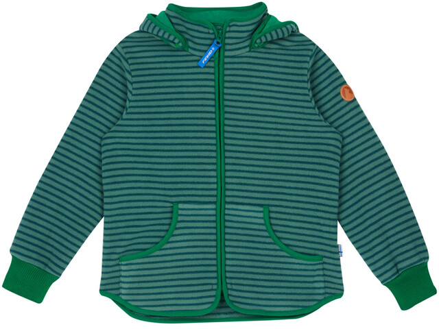 Finkid Kids Tonttu Striped Fleece Jacket trellis/leaf